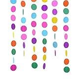 2 Packung 4 Meter Runde Papier Girlande Verschiedene Farben